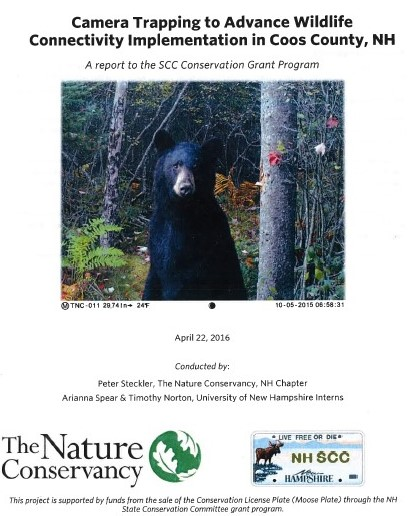 Camera Trapping to Advance Wildlife Connectivity Implementation in Coos County, NH