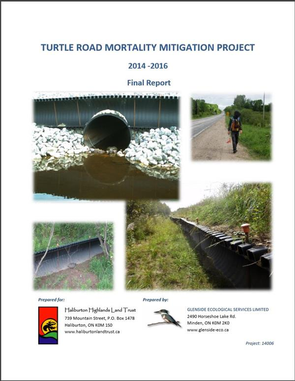 Turtle Road Mortality Mitigation Project 2014-2016 Final Report