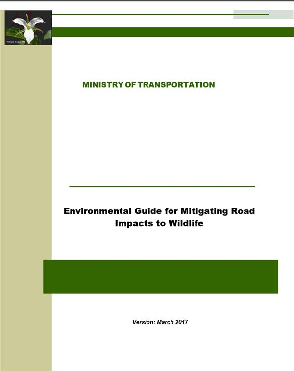 Environmental Guide for Mitigating Road Impacts to Wildlife