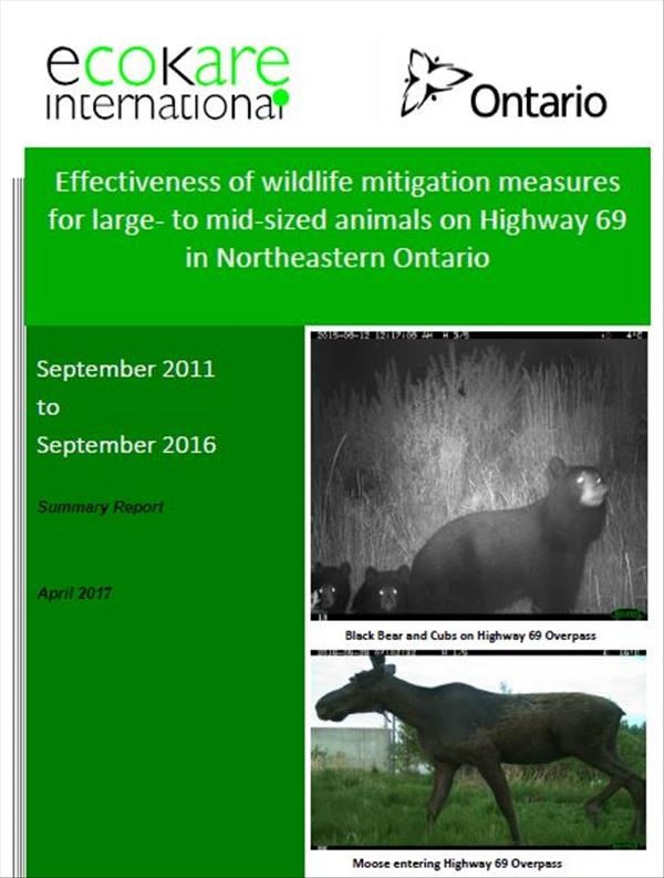 Effectiveness of wildlife mitigation measures for large- to mid-sized animals on Highway 69