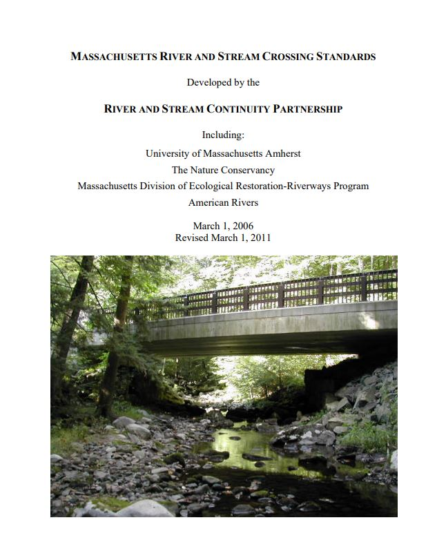 Massachusetts River and Stream Crossing Standards