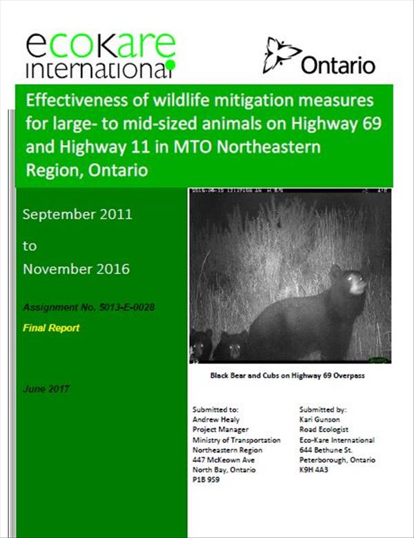 Effectiveness of wildlife mitigation measures